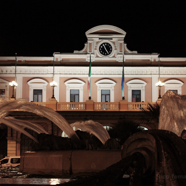 Bari Ncc - Stazione di Bari di notte