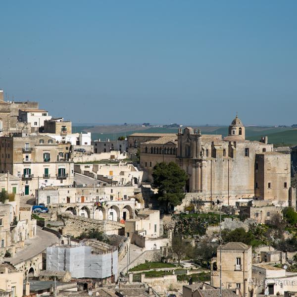 Ncc a Matera-tratto rupestre panoramico