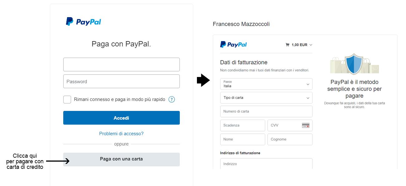 Come pagare con Carta di Credito